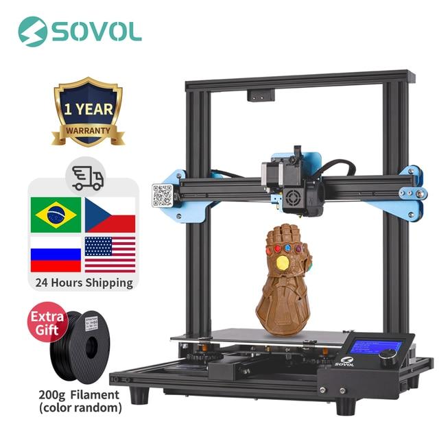 Sovol SV01 3Dプリンタ直接ドライブ押出機280*240*300ミリメートルmeanwell電源95% 事前組み立てimprimante impresora 3D