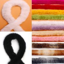 Меховые аксессуары, лента из искусственного кроличьего меха, сделай сам, отделка для шитья, ленты для куртки, ленты для костюма, ремесла для ...