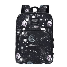 2019 Hot Sale Casual Solid Color Material Oxford Man's Backpack Multi-functional Large-capacity Student Schoolbag Simple Bag