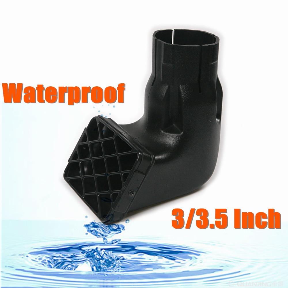 """1Pcs Universal 3 """"/3.5"""" Avtomobil Snorkel Hava Alma Yoluna Dəyişən Yolun dəyişdirilməsi Mudding Snorkel Head Hava Qaldırıcısı üçün suya davamlı"""