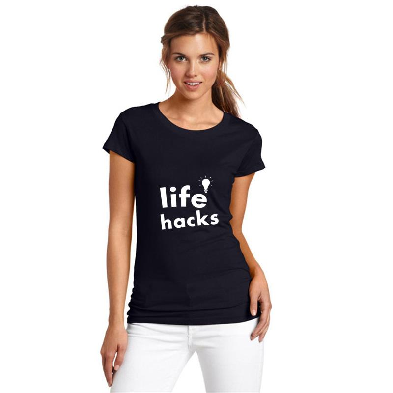 Graphic life hacks tshirts gents s-5xl famous tee tops image