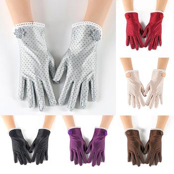 Etykieta rękawice rękawice do jazdy rękawice przeciwsłoneczne rękawice ochronne rękawiczki damskie rękawice nadgarstkowe nowe rękawiczki Spandex moda krótkie rękawiczki tanie i dobre opinie YJSFG HOUSE Dla dorosłych WOMEN Nadgarstek
