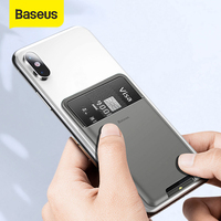 Baseus Universal Telefon Zurück Wallet Card Slots Fall Für iPhone 12 11Pro Max X Sumsung Fall 3M Aufkleber Silikon telefon Beutel Fall
