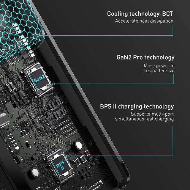 Baseus 100 W USB Schnellladegerät GaN PD 5