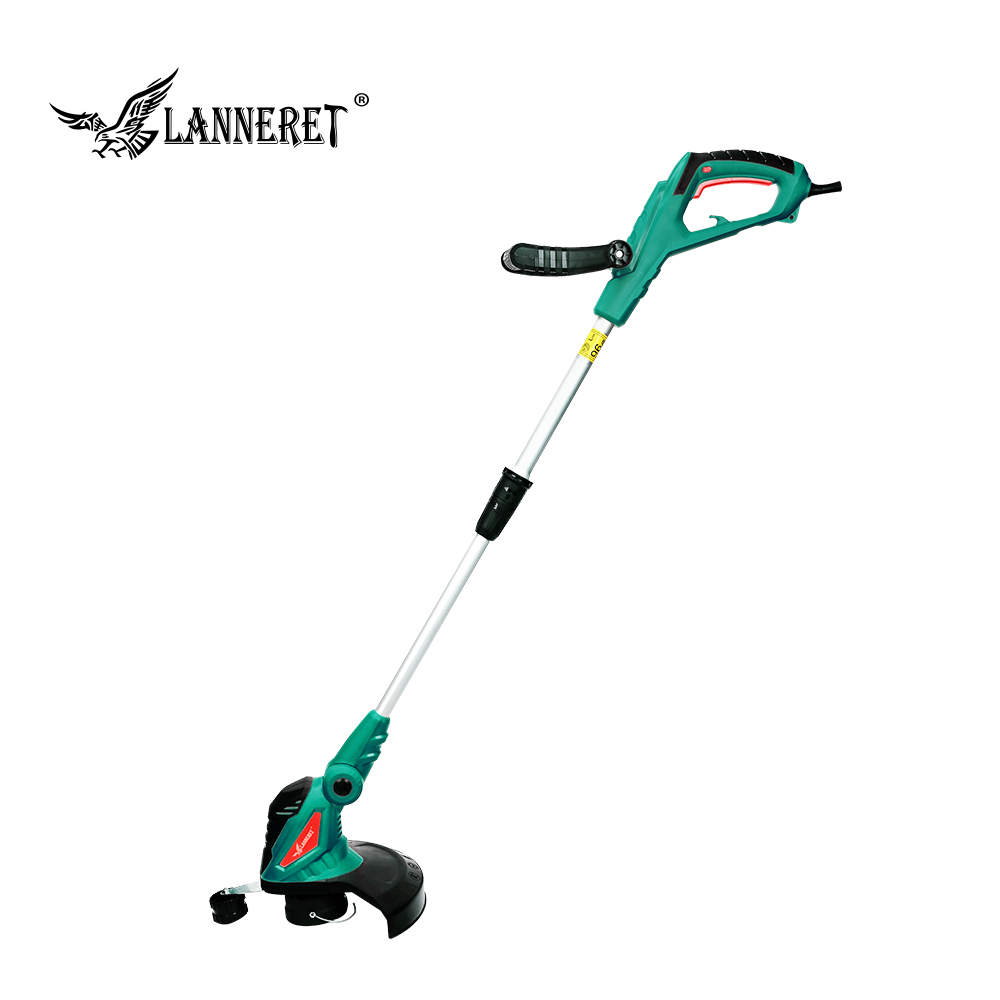 LANNERET Electric Grass Trimmer 550W Adjustable Shaft AC Grass Cutter Machine Line Trimmer Rotation Tube Garden Tool