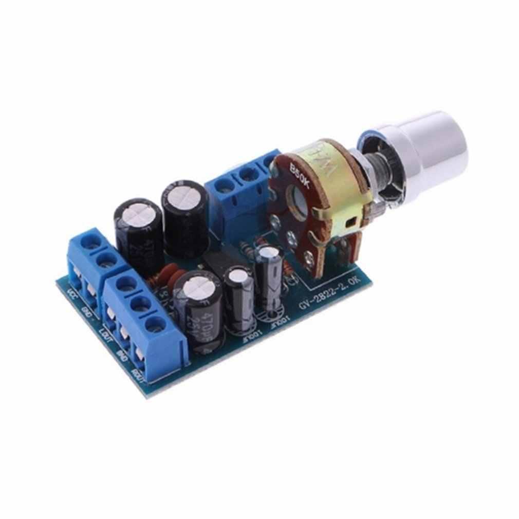 קטן גודל DC 1.8-12V TDA2822M 2.0 ערוץ מיני סטריאו AUX אודיו מגבר לוח מודול מגבר מודול חלקי