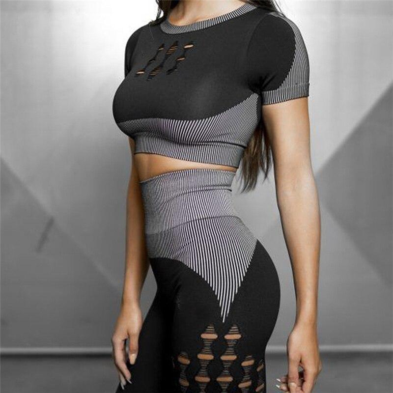 2 stück Set Frauen 2019 Workout Kleidung für Frauen Sport Bh und Leggings Anzug Sport Tragen für Frauen Fitness Gym kleidung Yoga Set - 6