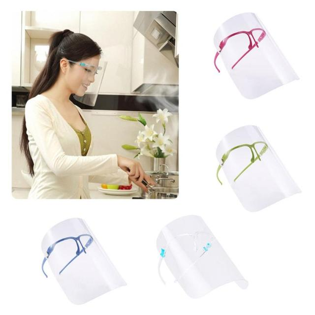 transparent mask Safety Kitchen Cooking Anti-Oil Splash Clear Face Cover Mask Protector Kitchen Accessories Random Color 1