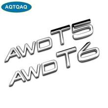 AQTQAQ 1 Uds 3D Metal AWD T5 T6 guardabarros lateral del coche emblema del maletero trasero pegatina calcomanías para Volvo S60L XC60 V40 XC90, pegatinas de coche