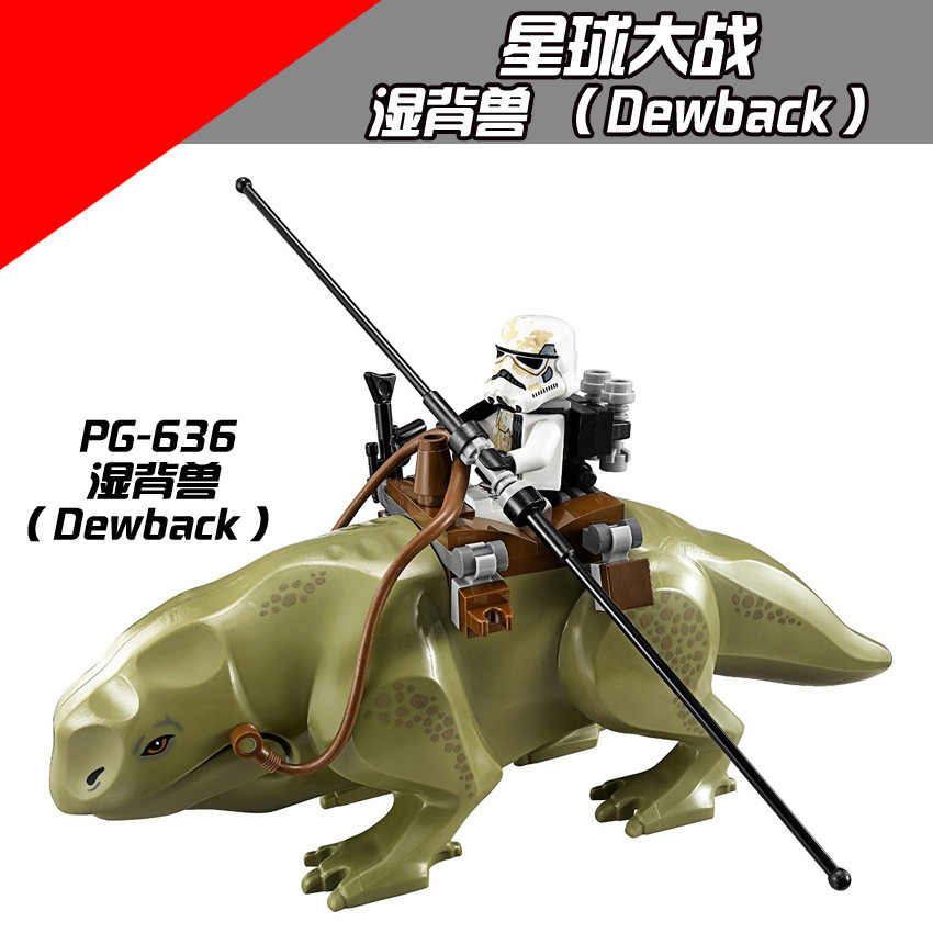 PG636 Star Wars Imperial soldier Jabba Jaba Wet back beast Dewback compatible LegoING Building Blocks Monster Mount Character mo