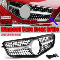 High Quality Black/Chrome Car Front Bumper Grille Grill For Mercedes For Benz C Class W204 C180 C200 C300 2008 2014