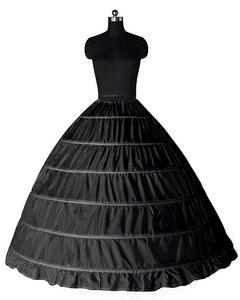 Image 4 - Wedding Accessories Petticoat Vestido Longo Ball Gown Crinoline Underskirt 6 Hoops Skirt Petticoats In Stock