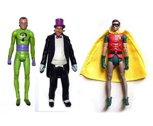 "Image 1 - DC Universe באטמן 1966 טלוויזיה סדרת החידות רובין פינגווין 6 ""Loose פעולה איור צעצוע בובת חג המולד מתנה"