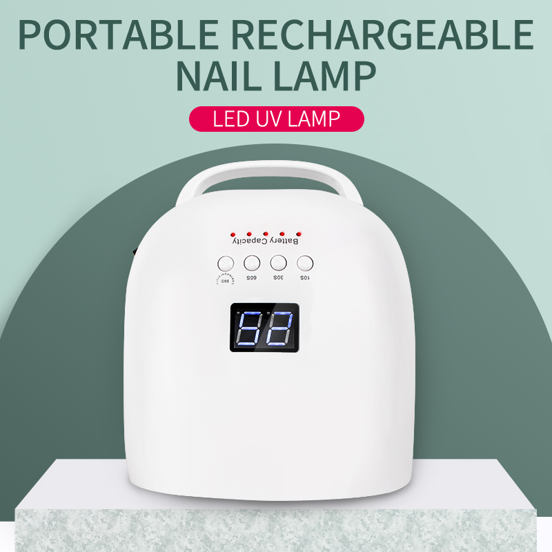86W Nail Dryer Rechargeable Nail Lamp UV Lamp Nail Curing Lamp Electric Cordless Nail Beauty Machine with Large Battery 86 Power image