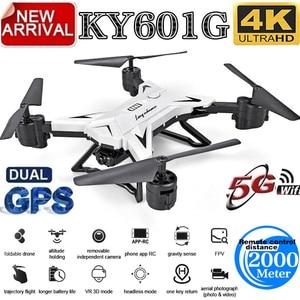 Image 5 - Yeni varış GPS Drone Quadcopter 2000 metre kontrol mesafesi RC helikopter Drone ile 5G 4K HD kamera katlanabilir KY601G KY601S