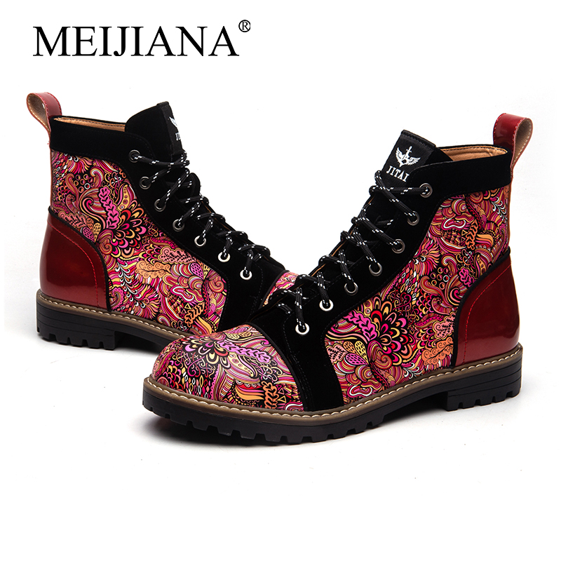 New Spring Men's Style Fashion  And New Men's Work  Shoes Autumn Winter MeiJiaNa Martin Boots  Men's Leather  Men's Casual Boots