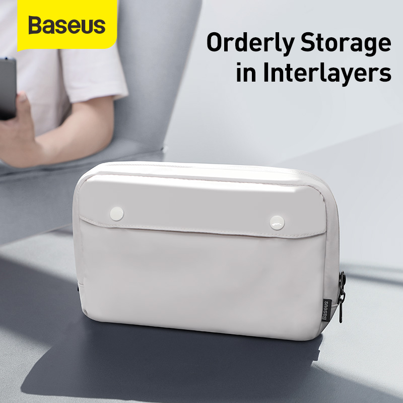 Baseus Digital Device Storage Bag Portable Waterproof Cosmetic Bag Digital Accessories Travel Storage Bag for Phone for Charger