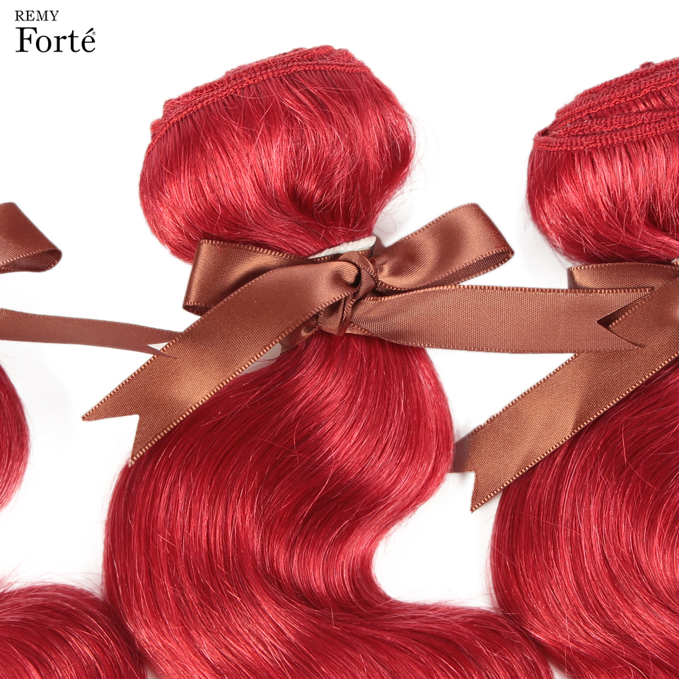 Remy Forte Hair Bundles Brazilian Hair Weave Bundles Red Bundles Human Hair 1 3 4 Hair Extension Single Bundles Hair vendors in Hair Weaves from Hair Extensions Wigs