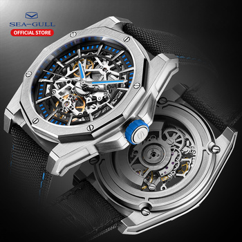 2020 New Seagull Watch Men Automatic Mechanical Hollow Perspective Large Dial  Waterproof Personality