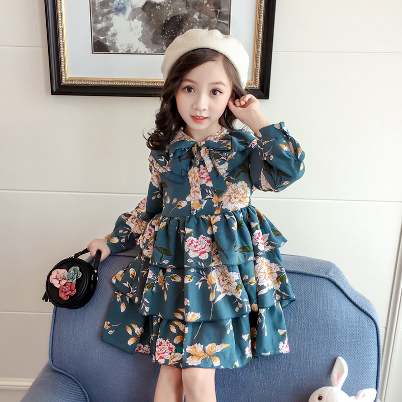 Didi Kids 2020 New Autumn Newborn Floral Dress Cute Infant Baby Clothes Dress For Girl Clothing Princess Party Christmas Dresses