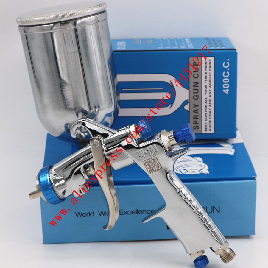 Image 2 - Original Import HVLP W101 Handle Manual 134G Spray Gun W 101 Spray Gun 0.8/1.0/1.3/1.5/1.8mm Car Paint Gun Paint Pistol-in Spray Guns from Tools on