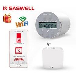 SASWELL Zigbee wifi Thermostat Temperatur für Wasser/Elektrische boden Heizung Wasser wöchentlich programmierbare arbeit mit tuya getway