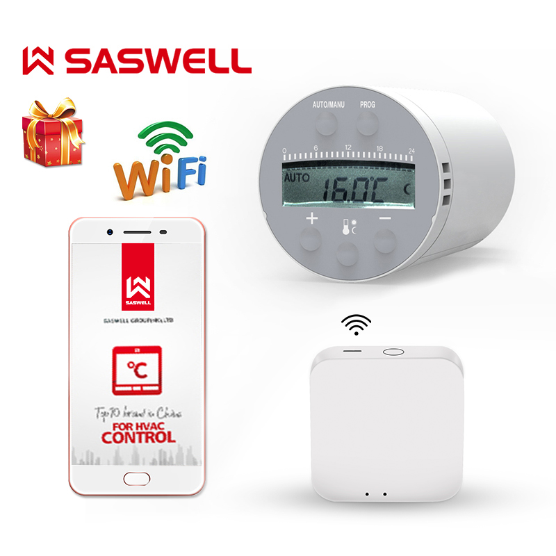 SASWELL Zigbee Wifi Thermostat Temperature  For Water/Electric Floor Heating Water weekly Programmable Work With Tuya Getway