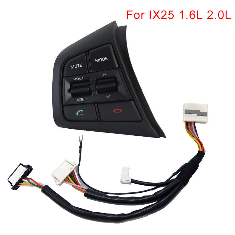 Steering Wheel Audio Control Button For Hyundai ix25 (creta) 1.6L 2.0L multifunctional Cruise Control Volume Switch bluetooth