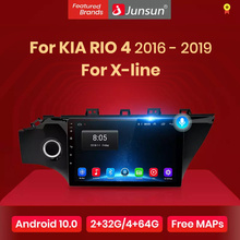 Junsun V1 Android 10.0 Ai Voice Control Dsp 4G Auto Radio Multimedia Video Player Gps Voor Kia Rio 4 X-Line 2016-2019 Geen 2 Din Dvd