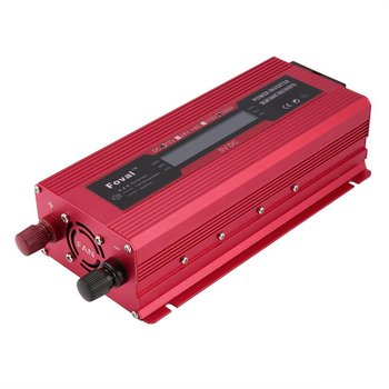 Auto Solar Power Inverter 12V zu 230V Digitale Sinus Welle Display Wandler Rote Überlast Schutz EU Typ image