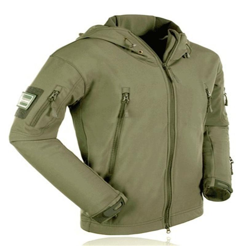 Military Tactical Jacket Men Shark Skin Softshell Jackets Waterproof Coat Camouflage Hooded Army Camo Clothing TAD Innrech Market.com