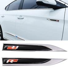 2 pçs 3d rline logotipo do carro de metal emblema emblema adesivo lateral do carro corpo lâmina etiqueta etiqueta rotulagem decoração acessórios do carro