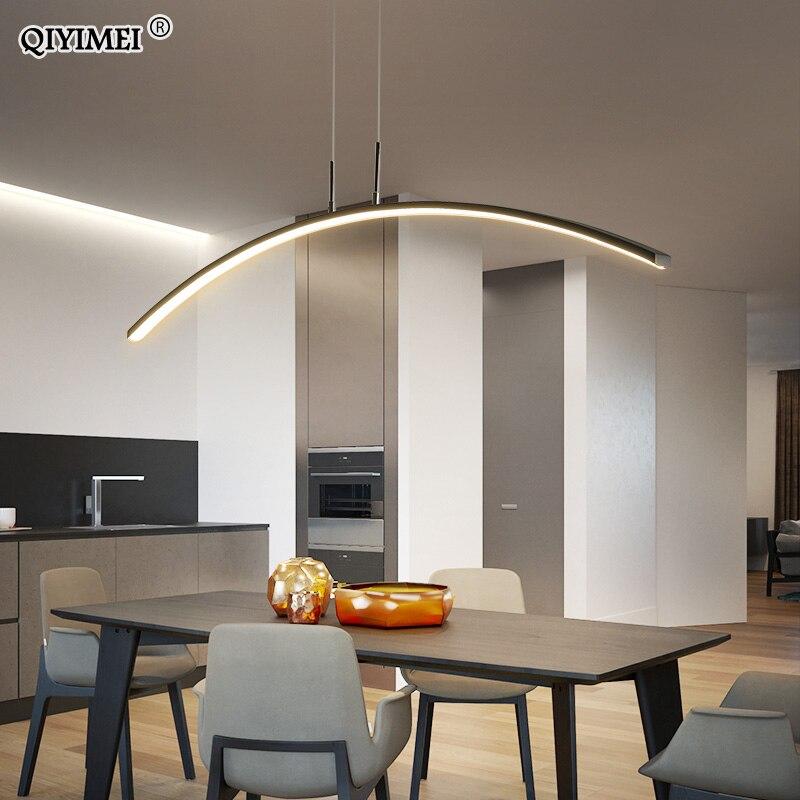 שלט רחוק מודרני אורות תליון עבור מטבח אוכל חדר כבל תליית תקרת מנורות דקו maison halat avize זוהר pendente