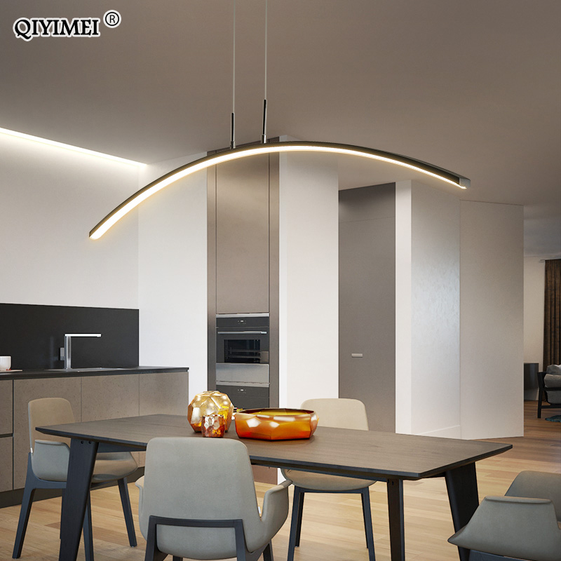Remote control Modern LED Pendant Lights For study Kitchen Dining Living Room Cord Hanging Lustre Indoor Lamps Input AC90-260V