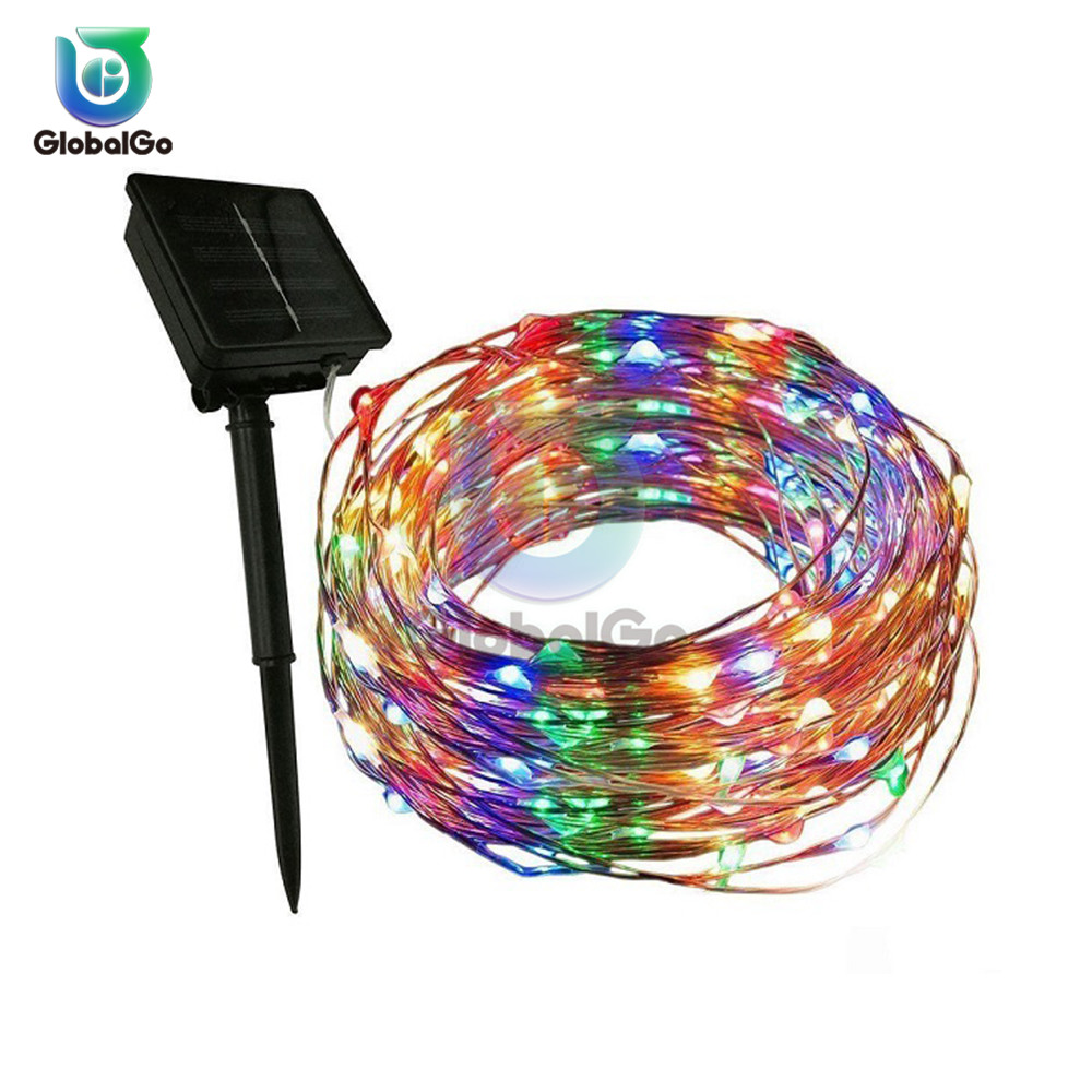100LED Outdoor Garden Solar Waterproof String Lights Lamp Fairy Wedding Home Window Party Decor Led Christmas Light 10M