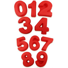 10 Polegada 0-9 números forma digtial forma 3d diy fondant molde de bolo de chocolate silicone moldes de bolo decorativo moldes de cozimento ferramenta