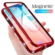 Магнитные адсорбционные Чехлы для Samsung A 50 30 20, металлический корпус, чехол для Samsung Note 10 Pro Plus 10 + S 8 9 10 Plus 10E A 7 9 2018
