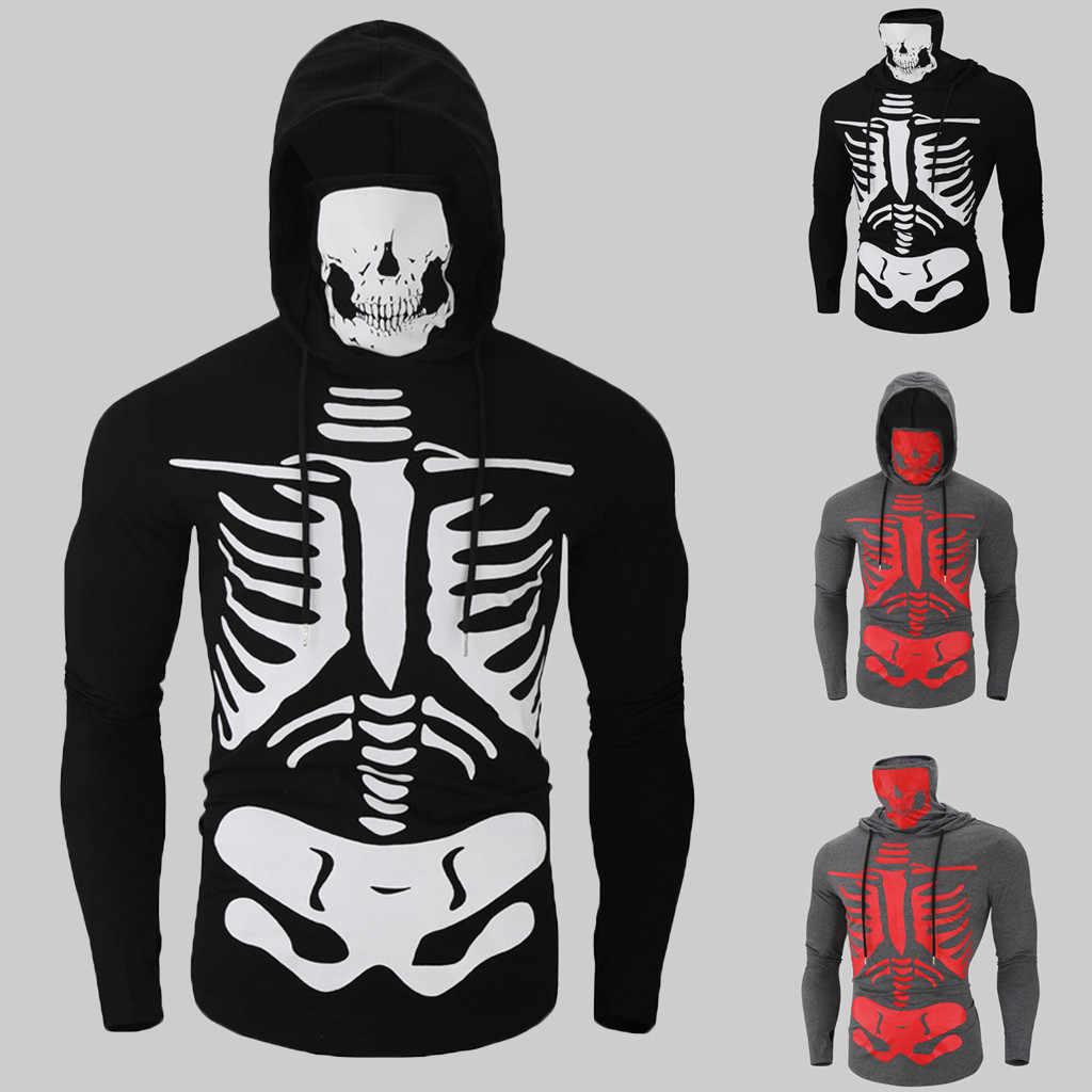 KANCOOLD nadrukowana czaszka jesień bluzy bluzy damskie i męskie bluza z kapturem marki 3xl dresy chłopięce płaszcze moda znosić nowe