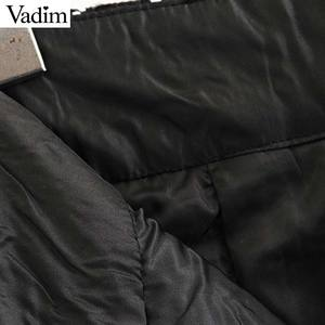 Image 5 - Vadim Nữ Sang Trọng Kẻ Sọc Tweed Mini Thắt Nơ Tất Dây Kéo Sau Lưng Một Dòng Retro Cơ Bản Nữ Giản Dị BA873