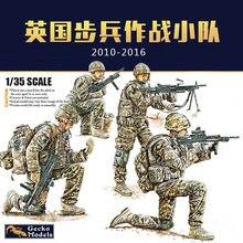 Gecko modelos 35gm0015 1/35 infantaria britânica em combate circa 2010 2016 set1 escala modelo kit