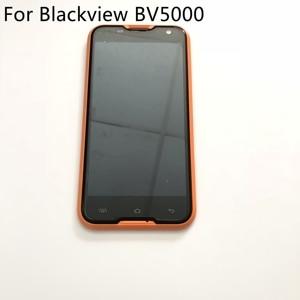 Image 1 - Blackview bv5000 display lcd + tela de toque quadro usado original rapair substituição acessórios para blackview bv5000 navio livre
