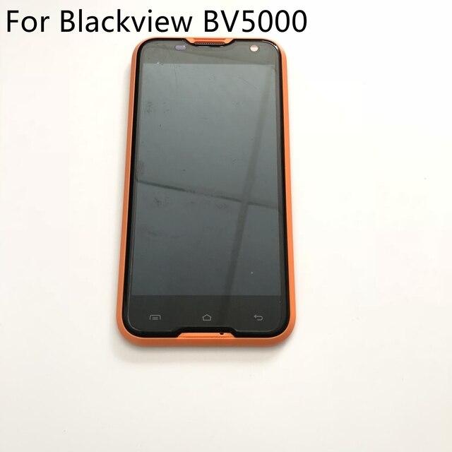 Blackview bv5000 display lcd + tela de toque quadro usado original rapair substituição acessórios para blackview bv5000 navio livre