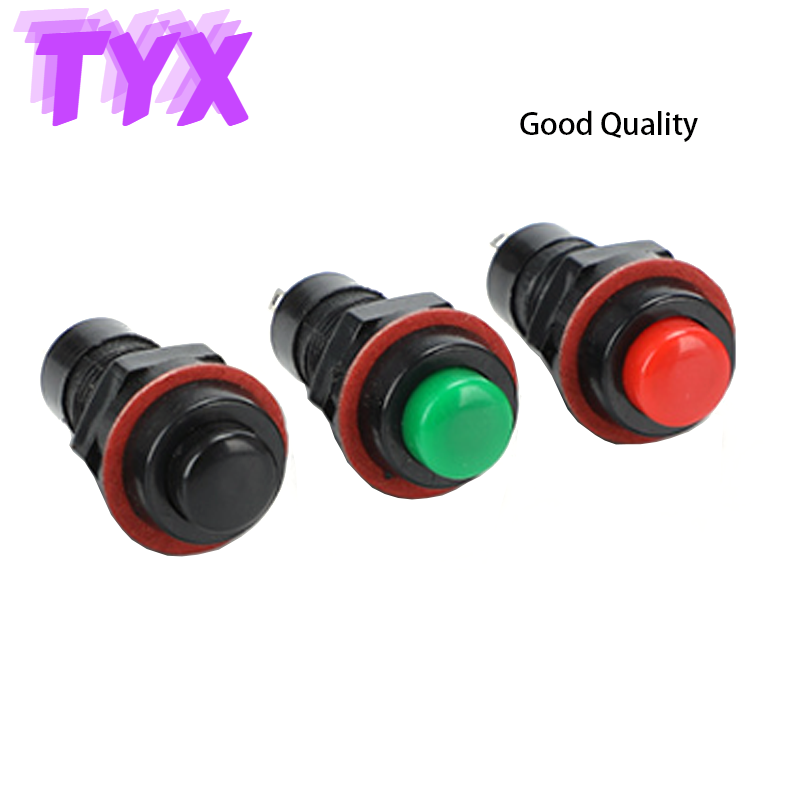 10Pcs DS211 DS213 Push Button Switch 10mm Self Return Momentary/Self Locking Round Button Switch miniature 3A/125VAC 1.5A/250VAC