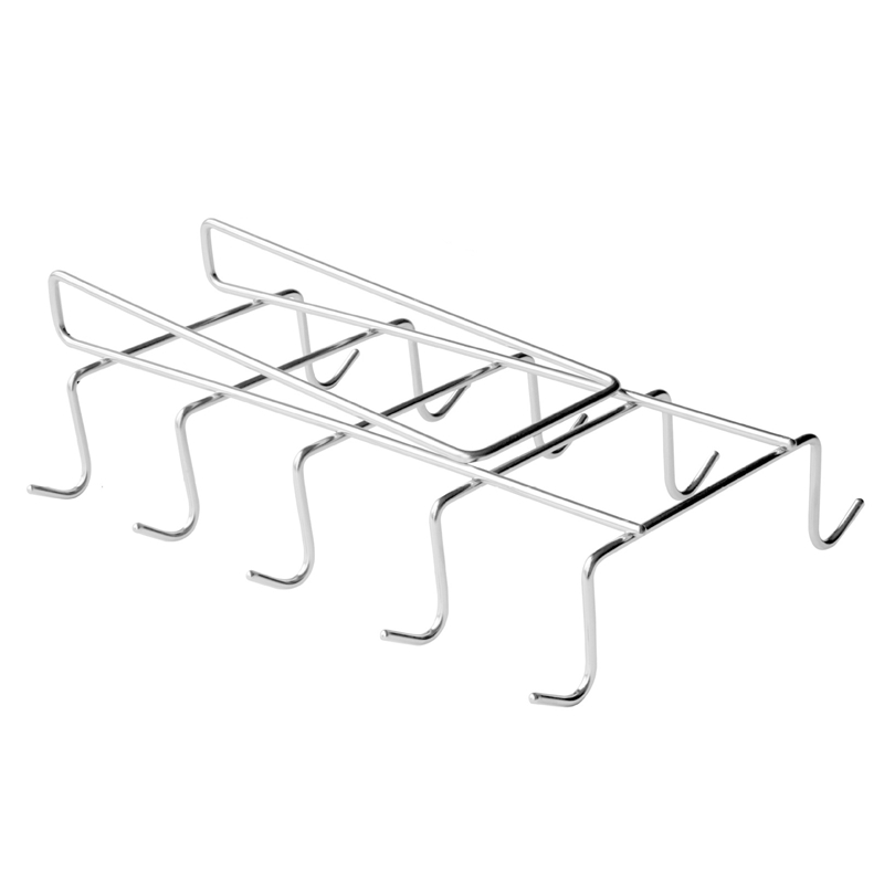 Mug Holder Cup Hanger Under Shelf Cabinet Coffee Kitchen Storage Rack Cupboard Silver 10 Hooks 304 Stainless Steel