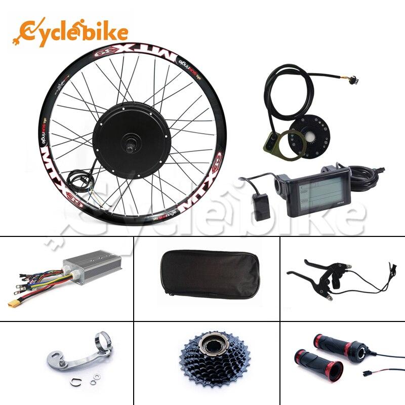 Kit de bicicleta elétrica 48 v-72 v 3000w e-bike kit 90 km/h velocidade máxima com roda livre de 7 velocidades