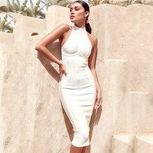 BOUSSAC Summer Bandage Dresses Sexy Lady Long Dress Celebrity Party Basic Grace