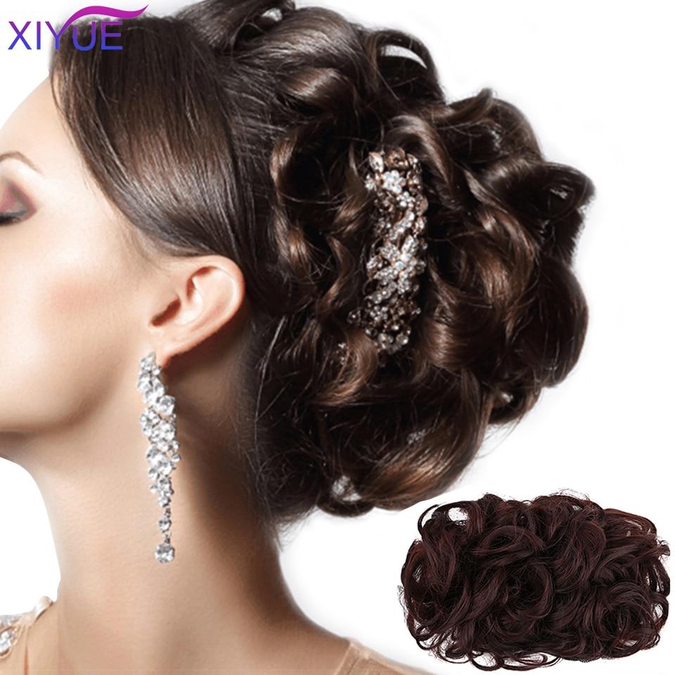 XIYUE новейшая популярная модная короткая кудрявая пучок волос, резинка для волос, накладная резинка, зажим для наращивания волос, шиньон