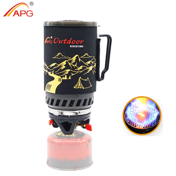 APG 1400ml Camping Gas Stove Fires Cooking System and Portable Gas Burners apg portable camping gas burners system and camping flueless gas stove cooking system