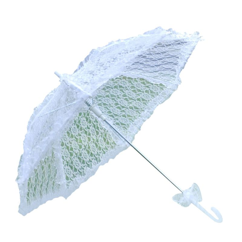 Free Shipping Simple Wedding Supplies Lace Hollow Bride Wedding Umbrella Photo Decoration Photography Props