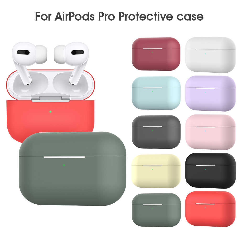 New Bluetooth Wireless Earphone Case For Apple AirPods Pro Silicone Charging Box Headphone Case for Airpods Pro Protective Cover